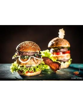 Burger din carne de strut 6 x 170gr