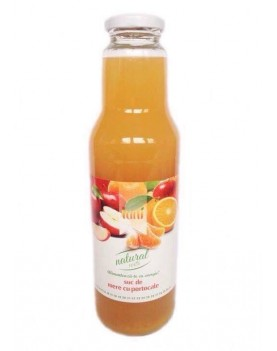 Suc natural de mere si portocale 0.75 l